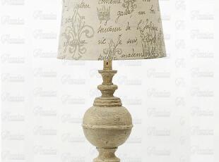 安妮家居艾罗拉仿旧古董金色鸢尾印花亚麻台灯,灯具,