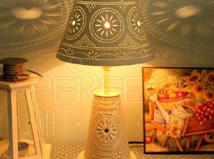 摩洛哥地中海田园风格镂空铁艺卧室床头装饰小台灯 特价全国包邮,灯具,