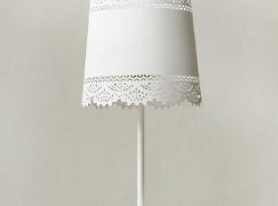 北陆工匠/美式乡村金属蕾丝灯/瑞典冬日/白色L号台灯,灯具,