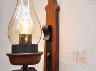 欧式复古实木铁艺地中海壁灯63291W(船锚壁灯 锚壁灯),灯具,