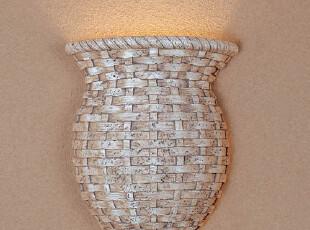 欧式地中海壁灯田园海岩石壁灯客厅卧室床头创意节能壁灯K3006A,灯具,
