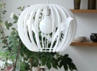 【宜家灯饰】简约创意鸟笼餐厅吊灯 亚克力灯 书房灯 卧室灯具,灯具,