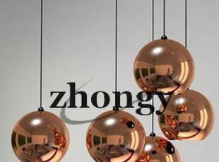 中艺灯饰 卖疯了电镀球太空球玫瑰金吊灯时尚店面酒店灯具,灯具,