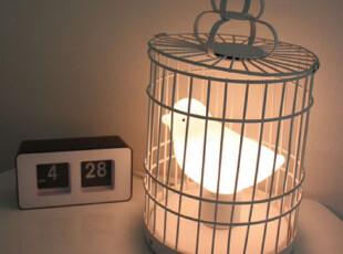 6.19【韩国家居】现代风静候的小鸟 创意台灯床头灯*白 亮度可调,灯具,