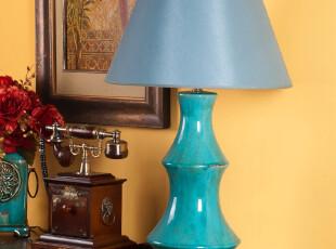 芮诗凯诗新品 欧式田园丝若兰东南亚风情陶瓷台灯 卧室床头台灯,灯具,