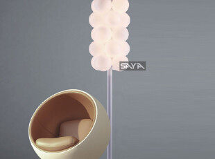 【尚雅灯饰】现代简约时尚白色铁艺落地灯客厅卧室书房灯具2430,灯具,