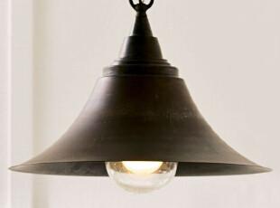 北欧/宜家/美式乡村/现代简约书房过道吧台玄关铁艺喇叭单头吊灯,灯具,