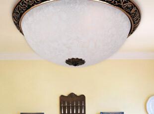 [罗莎蒙德]欧式 复古灯具 卧室 树脂吸顶灯 房间灯B105 16寸,灯具,