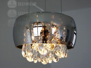 【设计师的灯】新古典奢华风 水晶玻璃电镀镜面泪珠 吊灯 水晶灯,灯具,