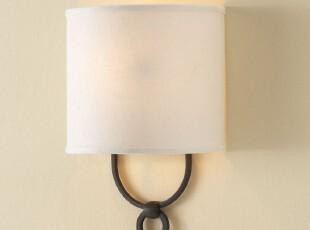 壁灯 现代简约布艺北欧宜家式壁灯 美克美家产品壁灯,灯具,