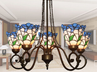 【蒂梵妮尔】欧式客厅灯帝凡尼欧式铁艺吊灯帝凡尼5头吊灯5H-1-6,灯具,