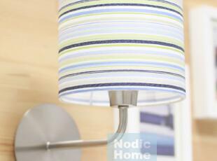 『北欧美家』现代简约 蓝条纹 壁灯/玄关灯/过道灯 WL-B010,灯具,