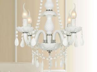 地中海灯白色田园吊灯卧室灯现代简约书房灯餐厅吊灯宜家灯8096/4,灯具,