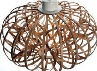 Ribbon Pendant 木片曲线吊灯,灯具,