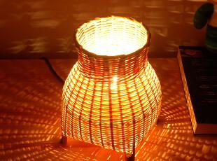 竹编创意灯 浪漫情调灯 简约小台灯气氛灯 花火小夜灯 温馨睡眠灯,灯具,