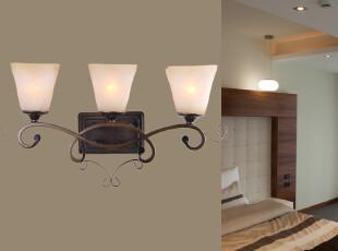 欧式田园铁艺壁灯 镜前灯 铁艺灯 客厅/卧室灯SYF0032-3W,灯具,