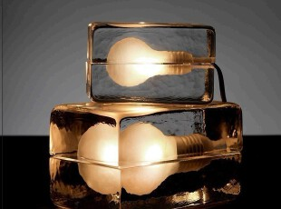 创意玻璃ICE 冰块台灯,灯具,