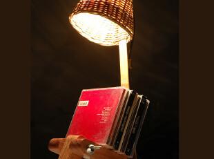 【平田】创意书房台灯 写字台灯 书桌台灯 环保竹木灯 多功能设计,灯具,