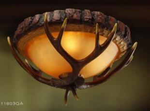 鹿角灯美式吸顶灯仿古树脂吸顶灯客厅灯卧室灯酒吧灯个性灯具,灯具,