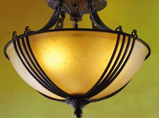 【美然】美式吸顶灯铁艺灯卧室灯美式灯乡村简约书房灯过道,灯具,