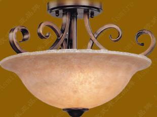 高档欧式铁艺吸顶灯86111-3C 门厅,玄关,卧室,半吸顶灯,灯具,