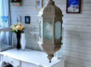 摩洛哥铁艺吊灯/欧式地中海田园/酒吧餐厅店面装饰/六面压花玻璃,灯具,