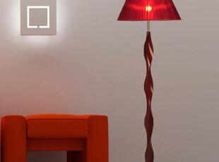 东联复古中国风进口实木质落地灯卧室客厅书房落地灯饰灯具L105,灯具,