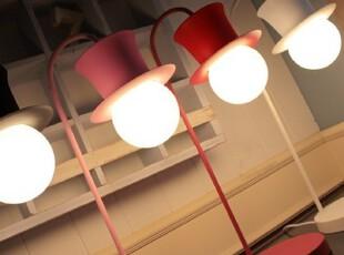 『韩国进口家居』X665 时尚纯色礼帽金属大灯泡台灯 四色可选,灯具,