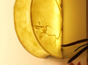 中式现代地中海卧室墙灯壁灯蛱蝶 镜前灯田园家居灯具简约床头灯,灯具,