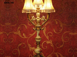 wanlang品牌婚庆结婚礼物欧式仿古树脂客厅卧室床头台灯具5590,灯具,