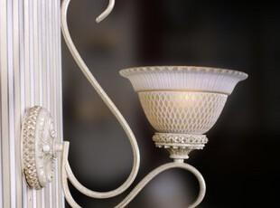 WANLANG欧式田园新古典灯饰卧室床头灯客厅白色过道壁灯5020-1B,灯具,