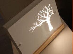 6.24【韩国家居】树影婆娑 气氛灯艺术台灯装饰台灯 白 送礼佳品,灯具,