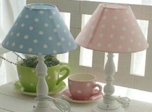 【韩国代购】公主房可爱圆点 台灯 粉色蓝色,灯具,
