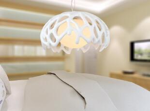 现代简约时尚创意卧室书房餐厅饭厅树脂玻璃红色吸顶吊灯具灯饰,灯具,