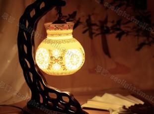 【思喜】陶瓷灯饰灯具 床头台灯 卧室灯书房灯 中式古典DJ022,灯具,