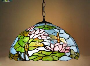 蒂凡尼 吊灯 卧室 餐馆 客厅 书房 琉璃蜻蜓 莲花 荷叶 帝凡尼,灯具,