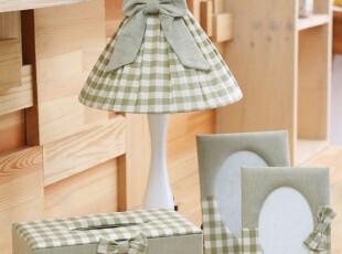 〓持家太太〓韩国家居*格子布艺韩国装饰台灯OR30018,灯具,