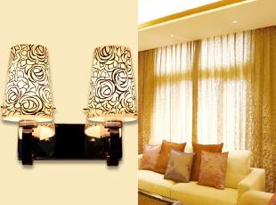 灯具 客厅餐厅卧室现代简约浪漫不带光源壁灯 E14小螺口 8822-2,灯具,