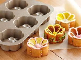 美式厨房 幸福毛茛形状小可爱buttercup蛋糕烤盘模具,烘焙,