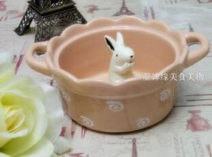 zakka小花耐高温陶瓷烤碗 浓汤碗  焗饭碗 蛋糕烘焙模具 外贸陶瓷,烘焙,