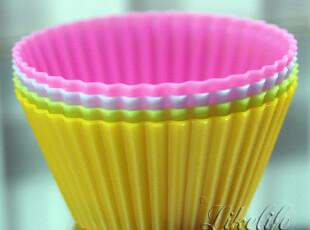 硅胶圆形蛋糕烘培工具杯马芬杯耐高温模蛋挞布丁DIY创意可爱烤箱,烘焙,
