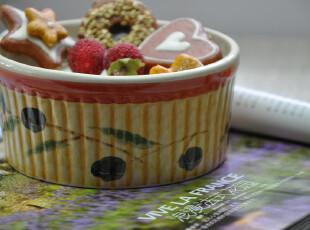 新品 黑莓果 外贸出口全手绘陶瓷烤碗 烘焙用具 陶瓷碗 做旧,烘焙,