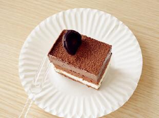 一次性蛋糕纸碟子 盘子 配叉子  庆生派对必备 一套5个 5元5套,烘焙,