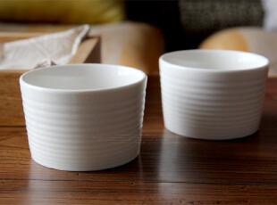 水生之城 外贸出口尾单 烘焙模具 纯白波纹陶瓷炖盅小烤碗,烘焙,