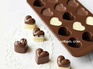 特价 心形烘焙工具硅胶DIY制作模型巧克力饼干布丁模子手工皂模具,烘焙,
