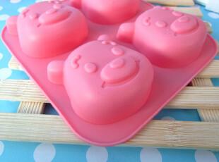 4连维尼硅胶蛋糕模具diy巧克力饼干面包模子果冻布丁模型,烘焙,
