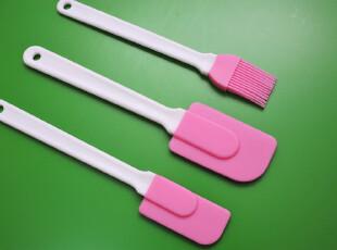 *烘焙用具*工具套装 硅胶粉色刮刀三件套套装 硅胶刷+2件硅胶刮刀,烘焙,