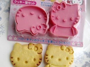 DIY烘培蛋糕饼干饭团工具 模具 HELLO KITTY立体饼干模 月饼模,烘焙,