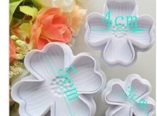 蛋糕翻糖弹簧模具 饼干切模 绣球花烘培模具 蛋糕模具4叶,烘焙,
