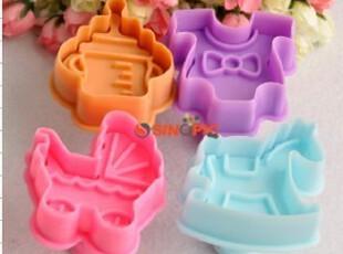 烘培模具 3D立体烘培蛋糕饼干模(木马,奶瓶,童车,童装),烘焙,